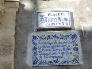 plaque honouring poet