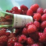 wine bottle and fruit