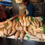 fish on a market stall